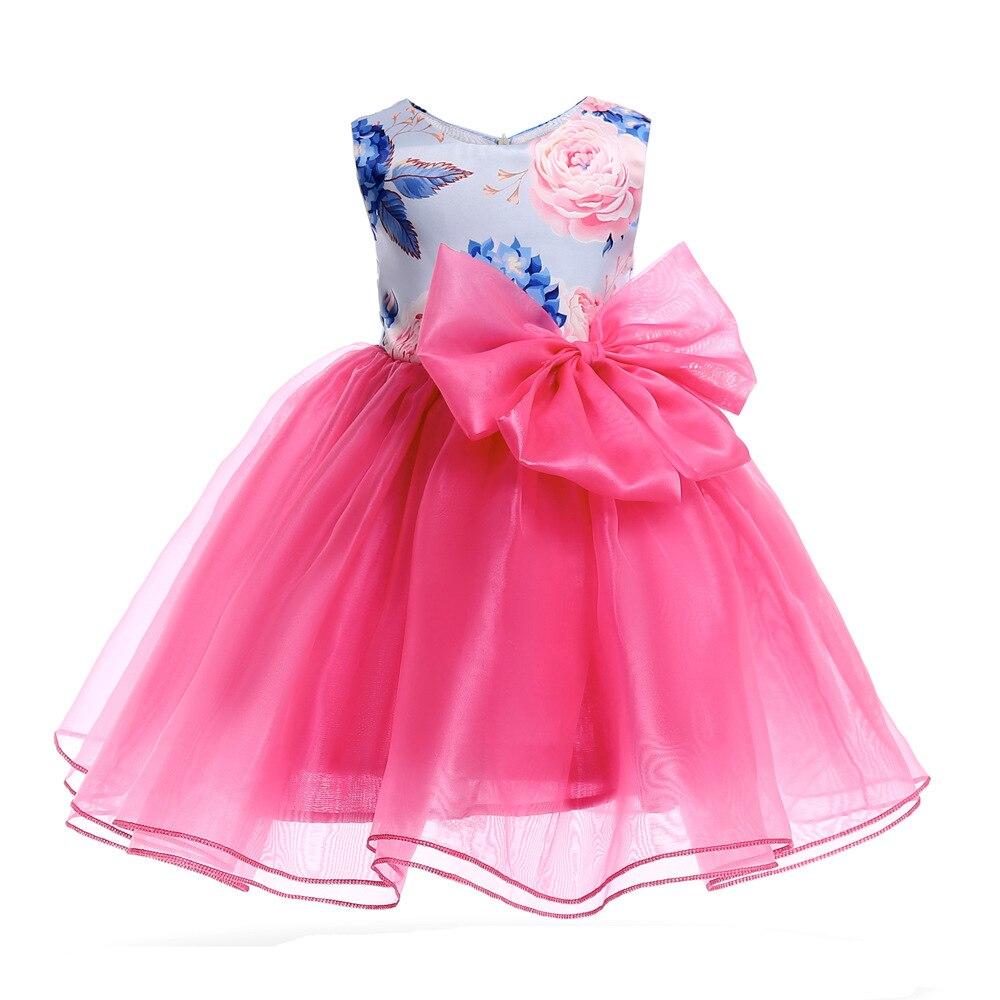 Multicolor nieuwe zomer gestreepte jurk voor meisjes trouwjurk fancy - Kinderkleding - Foto 4