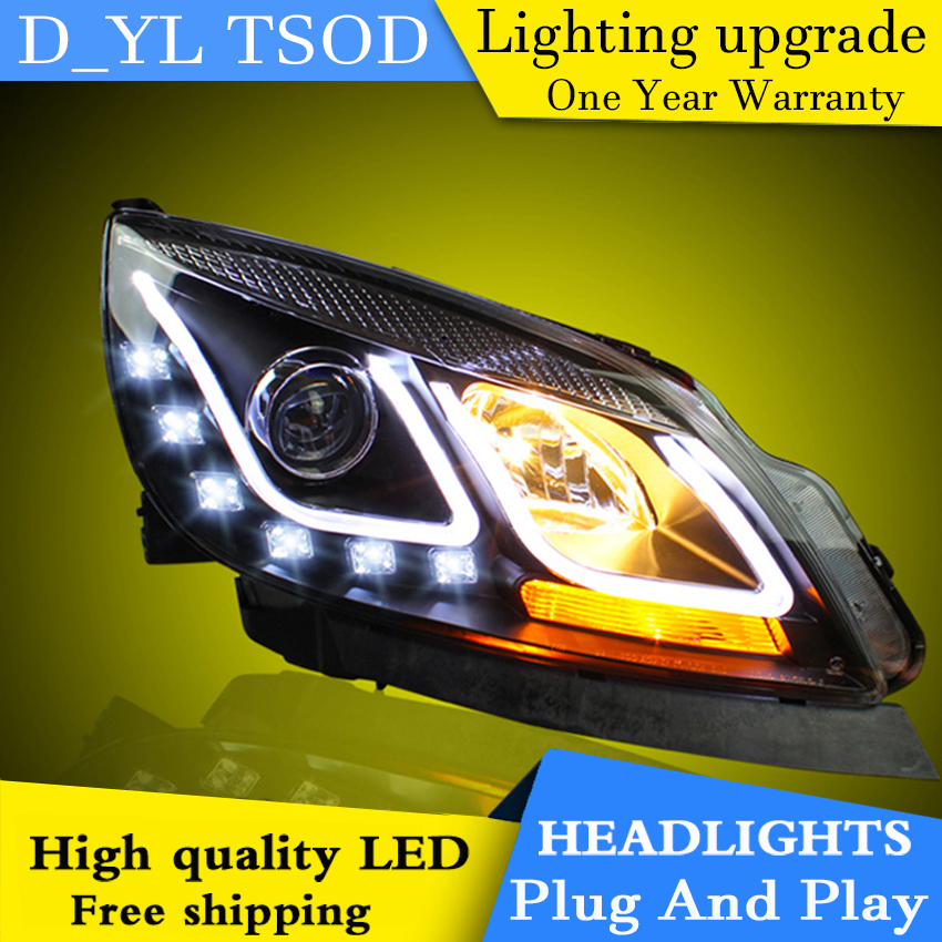 Car Styling Headlights for Excelle GT10 14 LED Headlight for Excelle GT Head Lamp LED Daytime