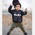 2016 Novo estilo de roupas de bebê menino T-shirt de manga comprida + Calças 2 pcs infantis. bebê recém-nascido roupas terno crianças define SY169