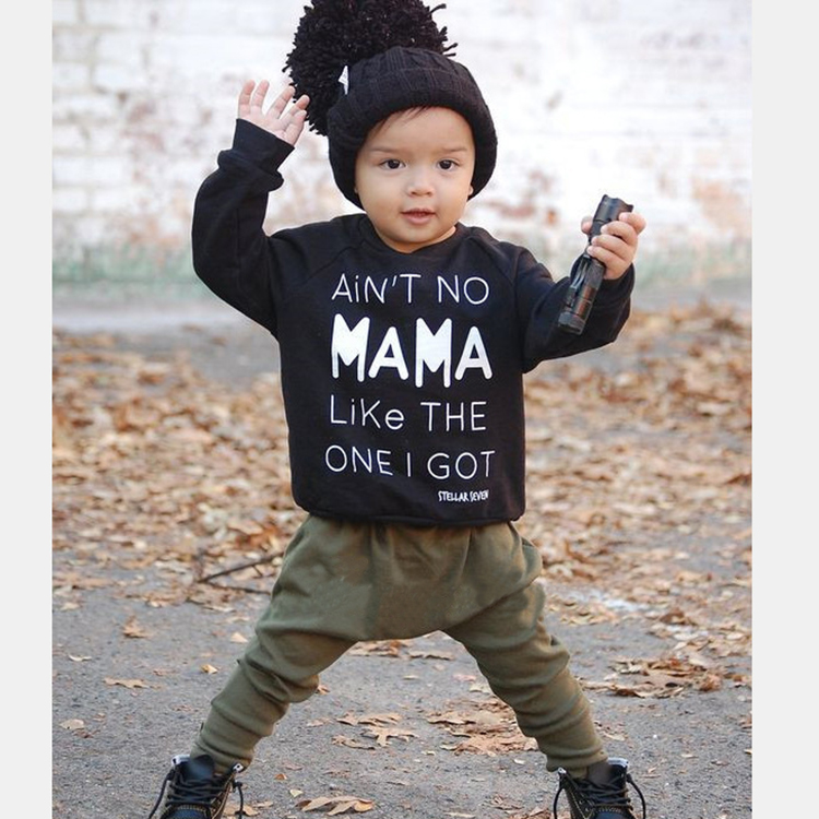 2018 New style baby boy clothes long sleeve T-shirt + Pants 2 pcs infant. newborn baby clothes suit kids sets SY169