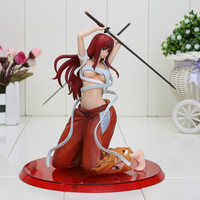 Free Shipping 18CM Anime Fairy Tail Elza Scarlet PVC Action Figure Model Toy Fairy Tail Figure