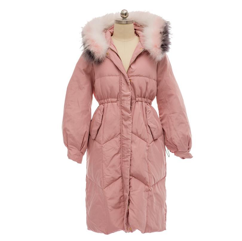 Veste Blanc Pink Canard Réglable Marque Bonne Épaississent Duvet De Vers Fourrure Col 90 Bas Femelle Matelassée Grand Manteaux Taille En Le Qualité Gx1515 BqEHtAw