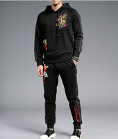 2019 new Winter Design Embroidery Track suits tracksuit men clothing pure cotton
