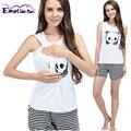 Emoção Mães verão Maternidade camisola Maternidade tops + calça pijama de Amamentação para As Mulheres Grávidas Maternidade roupas de enfermagem