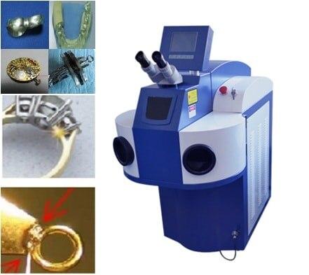 200 Вт Настольный встроенный волоконно лазерный сварочный аппарат ручной для ювелирной сварки