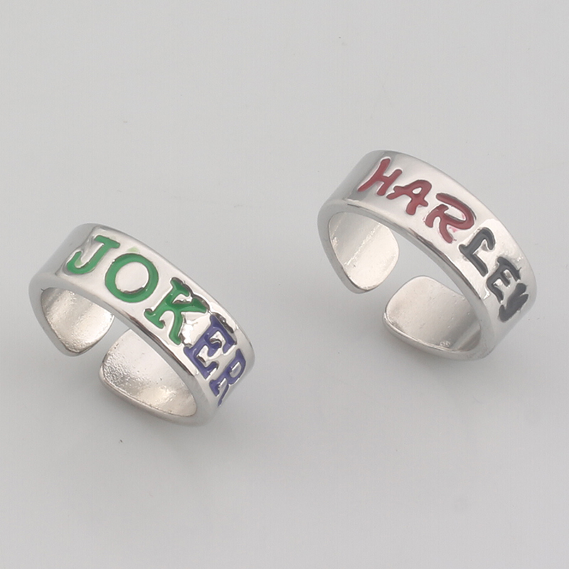 1 set 2017 Fashion Jewelry Suicide Squad Rings Men Women lover Rings