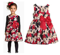 2016 Summer Girl Dress Minnie Mouse Dress For Girls Printed Party Dress For Children Kids Polka Dot Baby Girl Clothes 2-6Y
