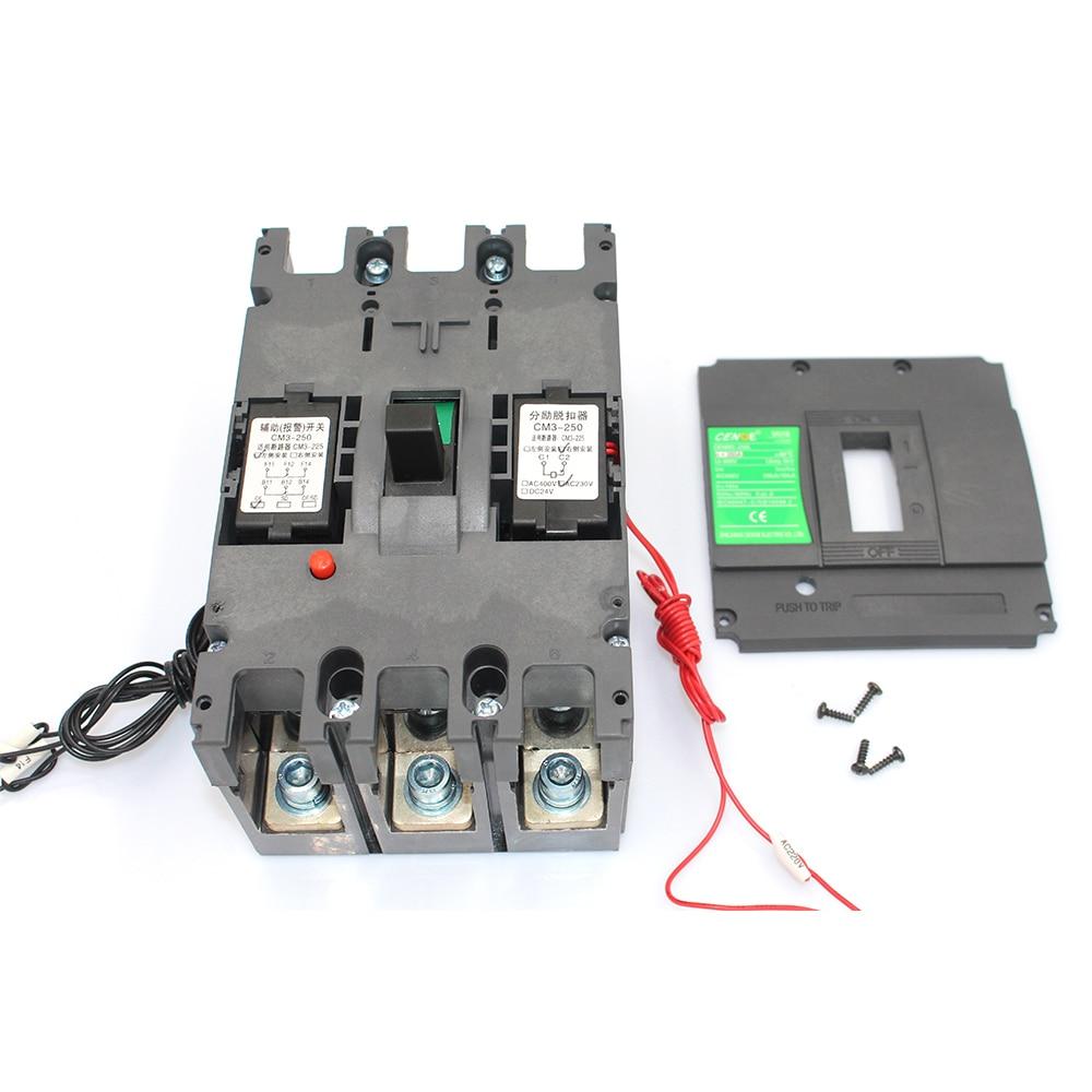 3 P MCCB a moulé le disjoncteur de cas avec la capacité de rupture forte capacité anti-vibration pièce intégrée de pièces pour installer des pièces