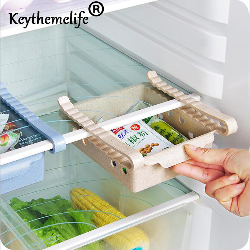 Multi Function ABS Refrigerator Storage Box Sliding Drawers Design ...