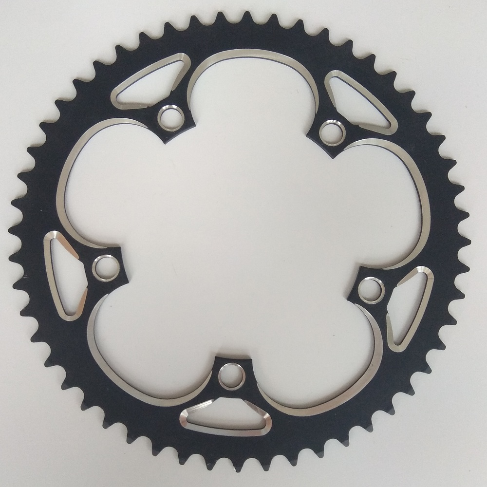 цена на Chain Wheel 130BCD 39T 44T 46T 48T 50T 52T 53T 56T CNC Bicycle Chainring Crankset Road Bike chainrings bmx Chainwheel 7-10 Speed