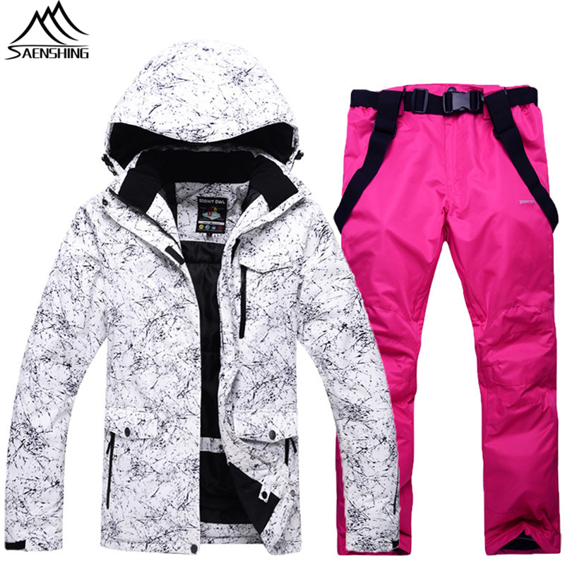 423c34b6e28 Saenshing Winter ski suit men women waterproof ski jacket+snowboard pant  thicken warm outdoor camping skiing snow suits male-in Skiing Jackets from  Sports ...