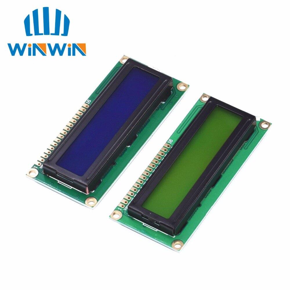 50 ピース LCD1602 液晶モニター 16 × 2 文字の Lcd ディスプレイモジュール HD44780 コントローラーブルー/黄緑色の画面ブラックライト  グループ上の 電子部品 & 用品 からの LCDモジュール の中 1