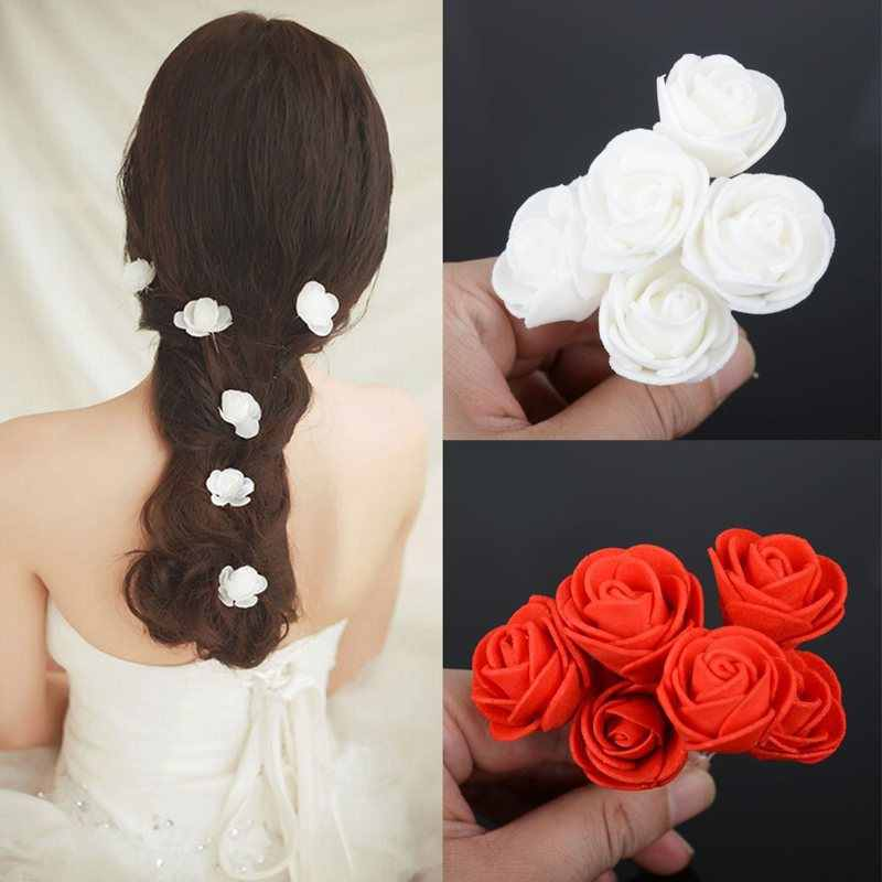 2019 New Limited Imixlot 6pcs/lot Beauty Wedding Bridal Rose Flower Hair Pin Clip U Shape Bridesmaid Women Accessory Jewelry