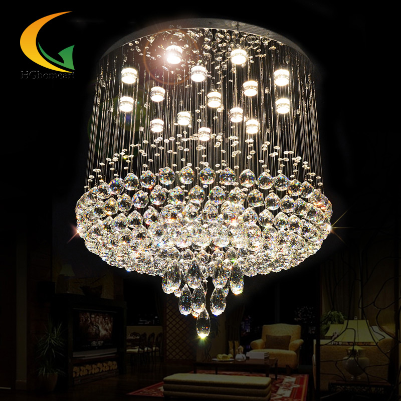 Modern minimalist atmosphere crystal ceiling lamp LED ceiling lighting living room lamp art restaurant warm bedroom