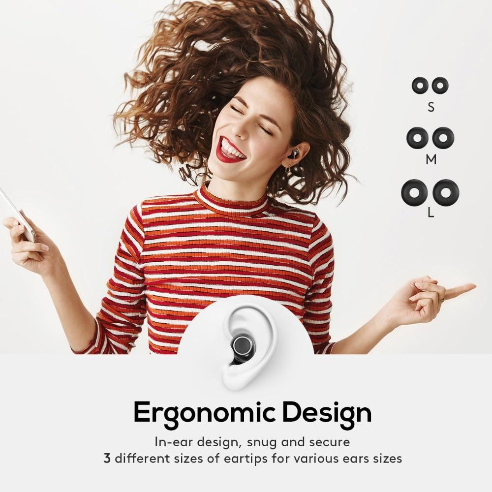 Mpow T6 TWS inalámbrica Bluetooth 5,0 auriculares ipx7 impermeable 21 h tiempo auriculares inalámbricos con micrófono para iPhone Xs xr Huawei - 6