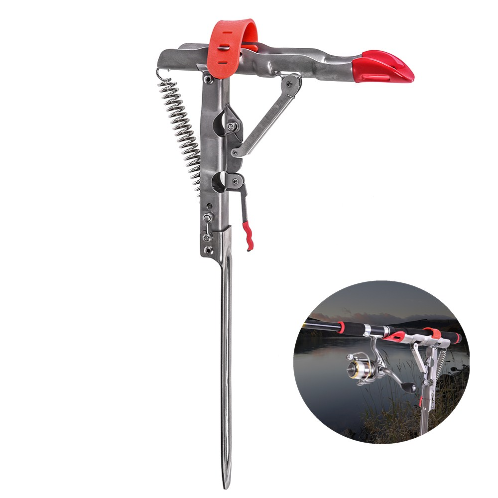 Automatic Fishing Rod Bracket Ground Pin Telescopic Rod Spinning Rod Holder