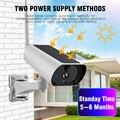 1080P Solar IP Kamera 2MP Drahtlose Wi fi Sicherheit Überwachung Wasserdichte Außen Kamera IR Nacht Vision Solar Power HD Cam-in Überwachungskameras aus Sicherheit und Schutz bei