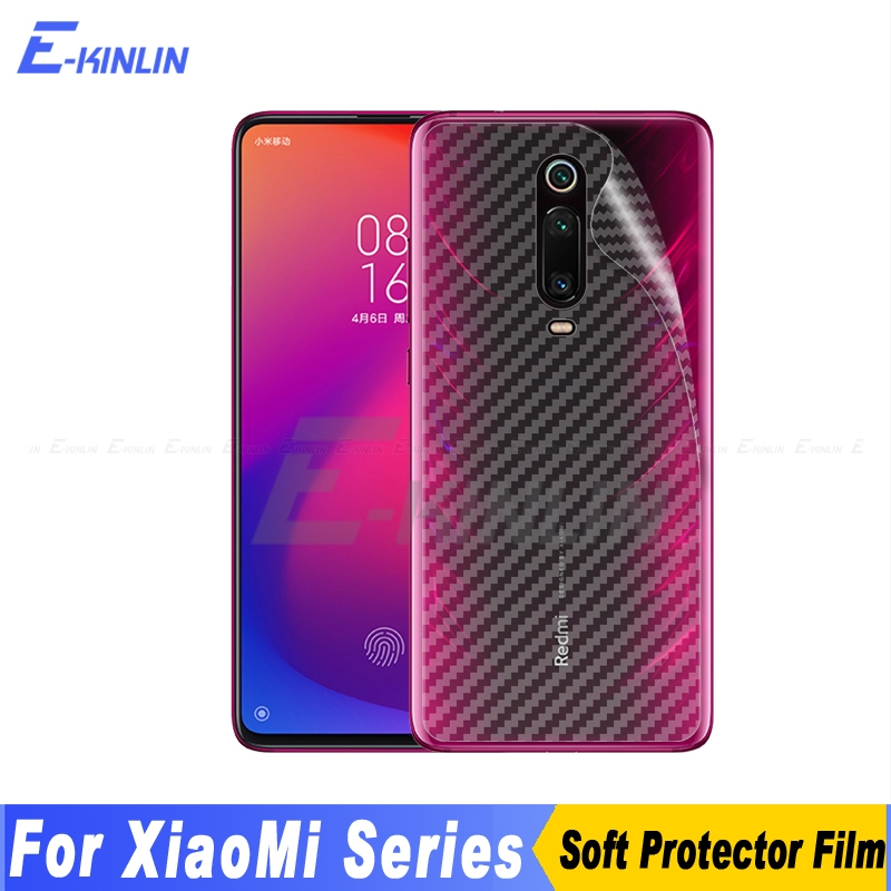 Carbon Fiber Back Cover Screen Protector For Xiaomi Mi 5 9T 9 SE 8 Pro A3 A2 Llite <font><b>PocoPhone</b></font> <font><b>F1</b></font> Play <font><b>Sticker</b></font> Film Not Glass image