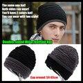 Men & Women Beanie Hip hop de alta calidad Slouch Unisex de lana de punto Cap primavera y de invierno Snap Slouch sombrero capó, desgaste de doble cara