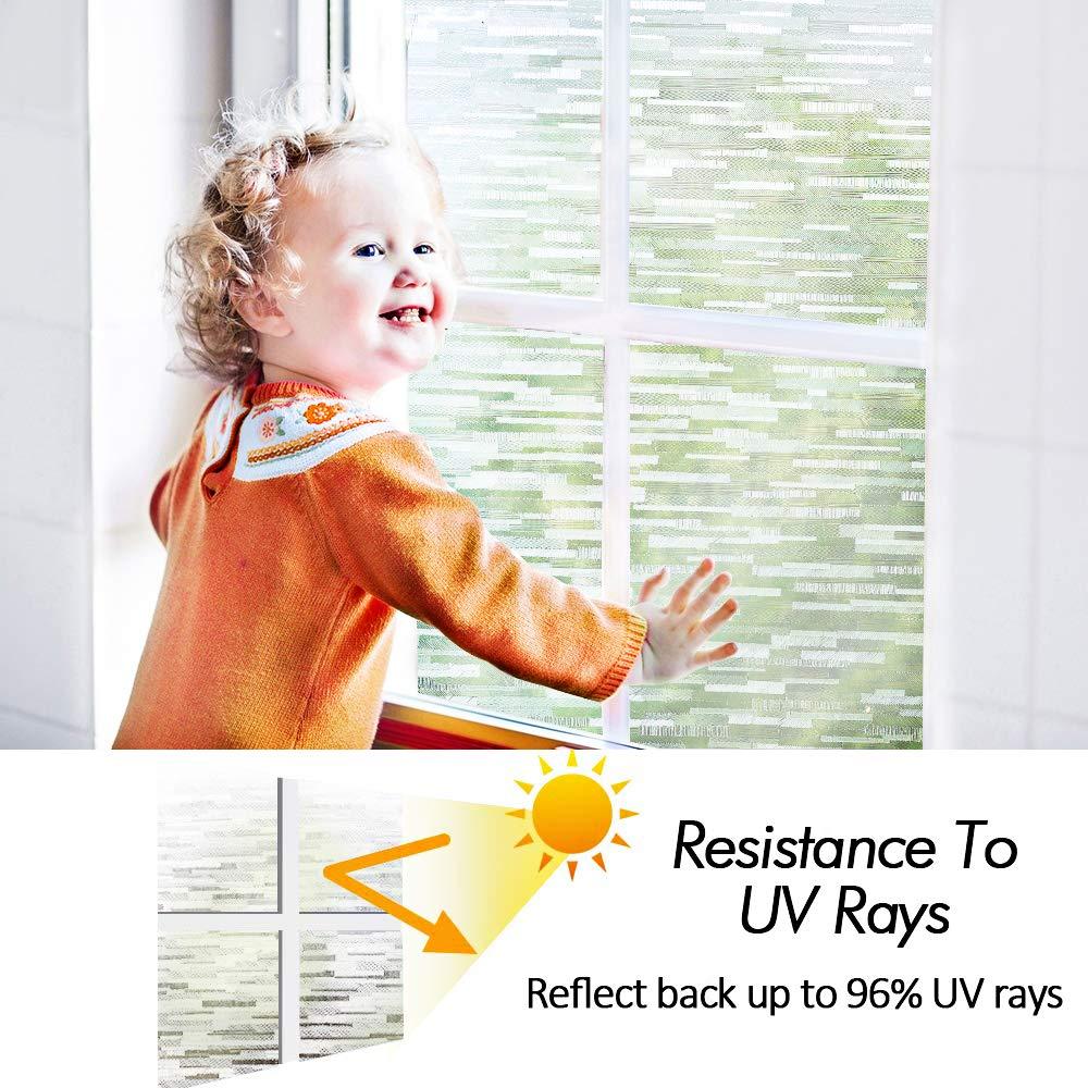 LUCKYYJ Window Vinyl Film Static Privacy Decoration Self Adhesive Film,for UV Blocking Heat Control Glass Window Stickers 6