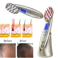 RF EMS LED Photon Laser Anti Hair Loss Comb Stimulate Hair Regrowth Brush Head Scalp Repair Hair Massager Brush Comb Tool 30