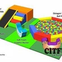 Высококачественный мяч для детского сада бассейн детские мягкие игрушки для малышей оборудование для игровой площадки в помещении включая 4000 мячей CIT-RT006A