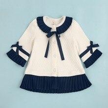 Free shipping 2016 autumn baby girls cute tops toddler kids outerwear girl princess cardigan long sleeve