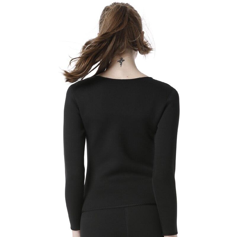 MAIJION 3XL Women Weight Loss Yoga Shirts Hot Sweat Body Shaper Long Sleeve Sauna T Shirt Girl Slimming Running Yoga Sport Tops