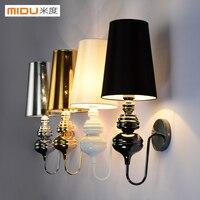 Breve lâmpada de parede moderna branco/preto/dourado/prata espanha lâmpada cabeceira sala estar Luminárias de parede     -