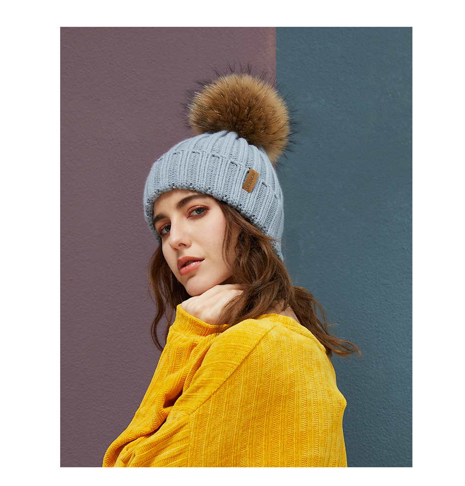 Real Raccoon Fur Pom Poms Beanies Winter Hat Female For Women Knitted Cotton Thick Cap 2018 New Fashion Warm Beanie Hot Selling (13)