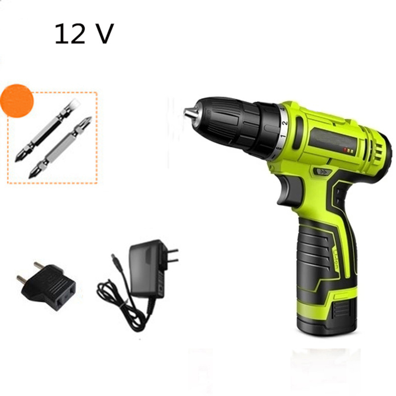 12V 16.8V 25V Electric screwdriver Lithium Battery Cordless Electric Drill Screwdriver Rechargeable Power Tools free shipping brand proskit upt 32007d frequency modulated electric screwdriver 2 electric screwdriver bit 900 1300rpm tools