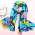 Fashion Ladies Long Thin Wool Scarf Women Warm Soft Printed Scarves Spring Autumn Winter Style Bufanda Cachecol