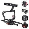 Cámara SLR de la jaula de conejo Micro película Kit de cámara de tiro bajo amortiguador Cámara jaula estudio fotográfico estabilizador para Sony A7 a7S A7R2