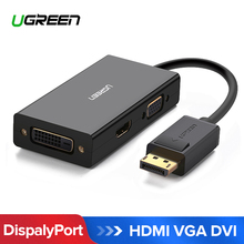 Ugreen 3 in 1 Displayport DP to HDMI VGA DVI Adapter 4K Male to Female Display