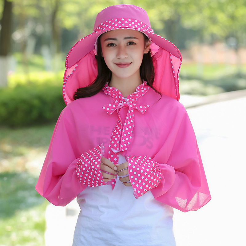 Women Outdoor Sport Hiking Camping Cap Sun Hat UV Protection Face Neck Cover Sunshade UV Shawl Sleeves
