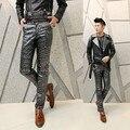 2017 ocasional Metrosexual calças calças trajes masculinos traje K83 p95