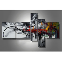 Top Sale Canvas Painting Abstract Art 5 Plane Wall Art 100% Hand Painted Oil Pictures Paintings Home Living Room Home Decoration