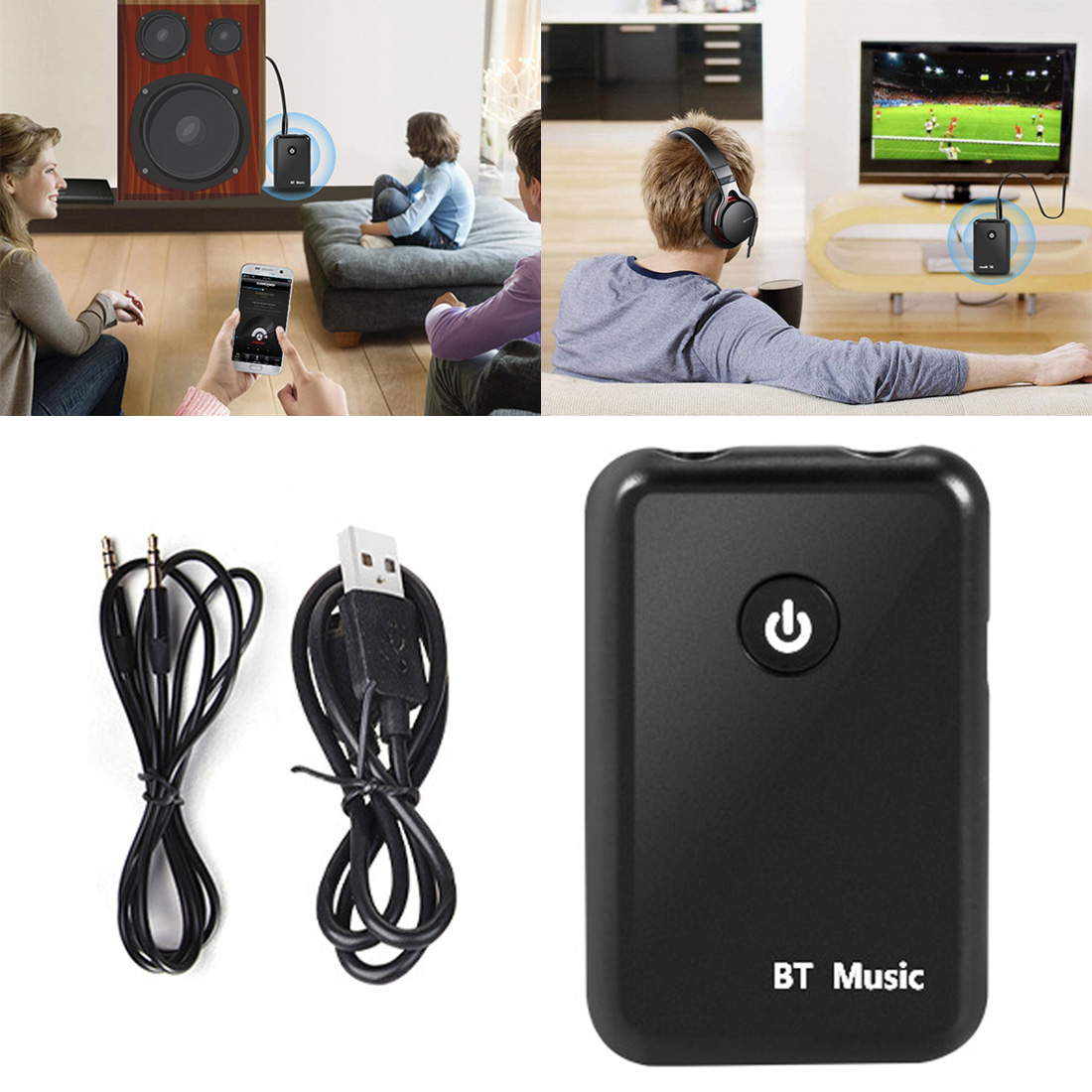 2 In 1 Wireless Bluetooth 4,2 Sender & Empfänger 3,5mm Tragbare Audio Adapter Bluetooth Transceiver Für Smartphone Pc Tv