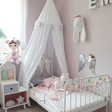 Nordic decoration kids room Crib Netting princess girl bedroom kamimi bed canopy tent baby infant bed hung dome mosquito net P20