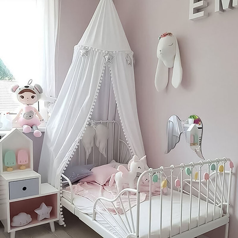 Nordic decorazione camera dei bambini Retine e Zanzariere della ragazza  della principessa camera da letto kamimi letto a baldacchino tenda bambino  ...
