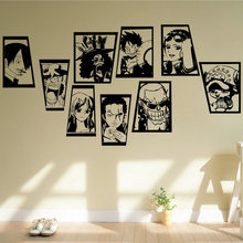 Free mail Anime strawhat luffy figure wall stickers Dormitory personality decorate One piece full photo