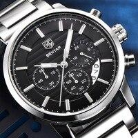 Benyar Stainless Steel Chronograph Olahraga Mens Watches Top Brand Luxury QUARTZ Bisnis Watch Clock Relogio Masculino