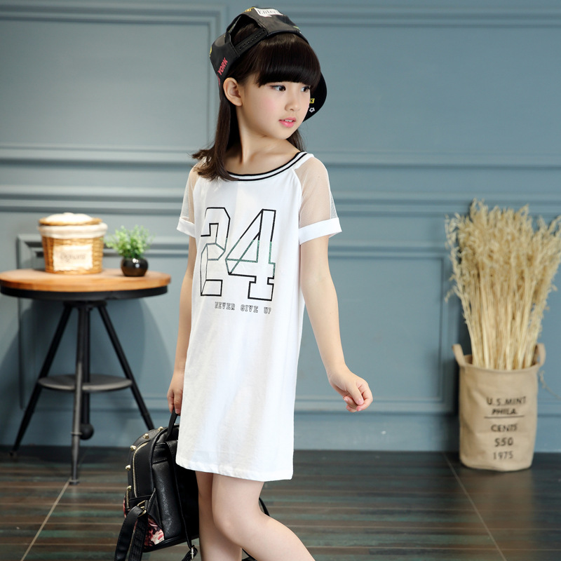 e6a4607066 Kids summer 2016 new Korean girls dress girls fashion casual short sleeved-in  Dresses from Mother & Kids on Aliexpress.com | Alibaba Group