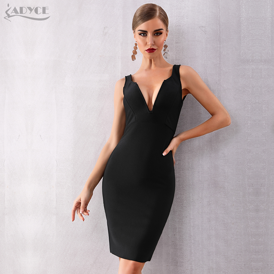 Women's Clothing Adyce 2019 New Summer Black Leather Women Celebrity Evening Party Dress Sexy Long Sleeve Off Shoulder Deep V Club Dress Vestidos
