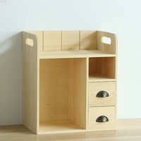 Creative desktop work drawer type storage box solid wood bedroom sundries commodity shelf desk cafe yellow