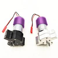 Metal Transfer Gear Box with 370 Motor Fin for WPL JJRC FY001 1/16 RC Car Toy