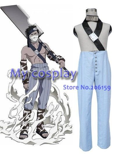 Anime Naruto Cosplay - Naruto Zabuza Men's Cosplay Halloween Costumes Freeshipping