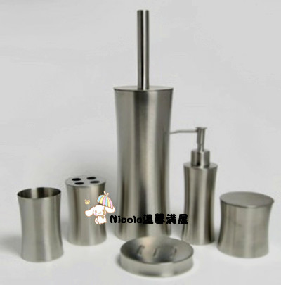 ФОТО stainless steel 6 pieces bathroom set
