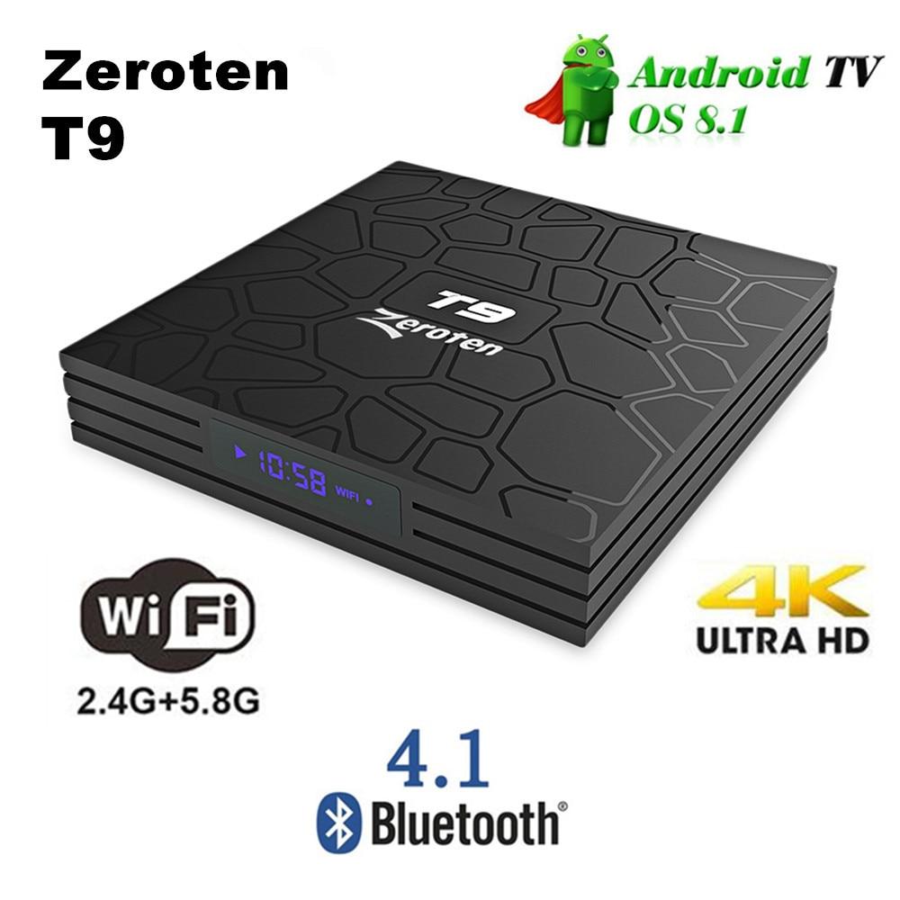 T9 4GB//64GB Android 8.1 TV BOX RK3328 Quad Core 4K 5.8G Dual WiFi BT4.1 3D Media