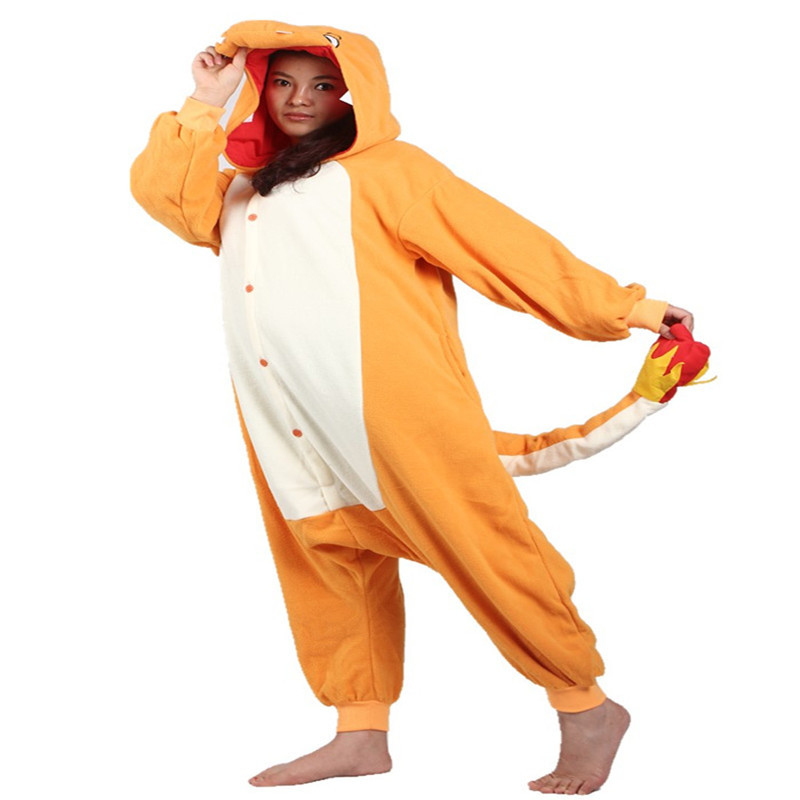 7207264b920a Detail Feedback Questions about Winter Pajamas Long Sleeve Charmander  Onesie Adult Funny Cartoon Cosplay Animal Appropriate Sleeping Rompers  Womens Jumpsuit ...